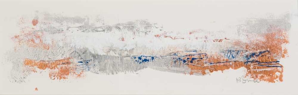 KB-075, Katharine Bruce, Changing Seasons II, 2015, Acrylic on Paper, 2015, 22x7, $1,200