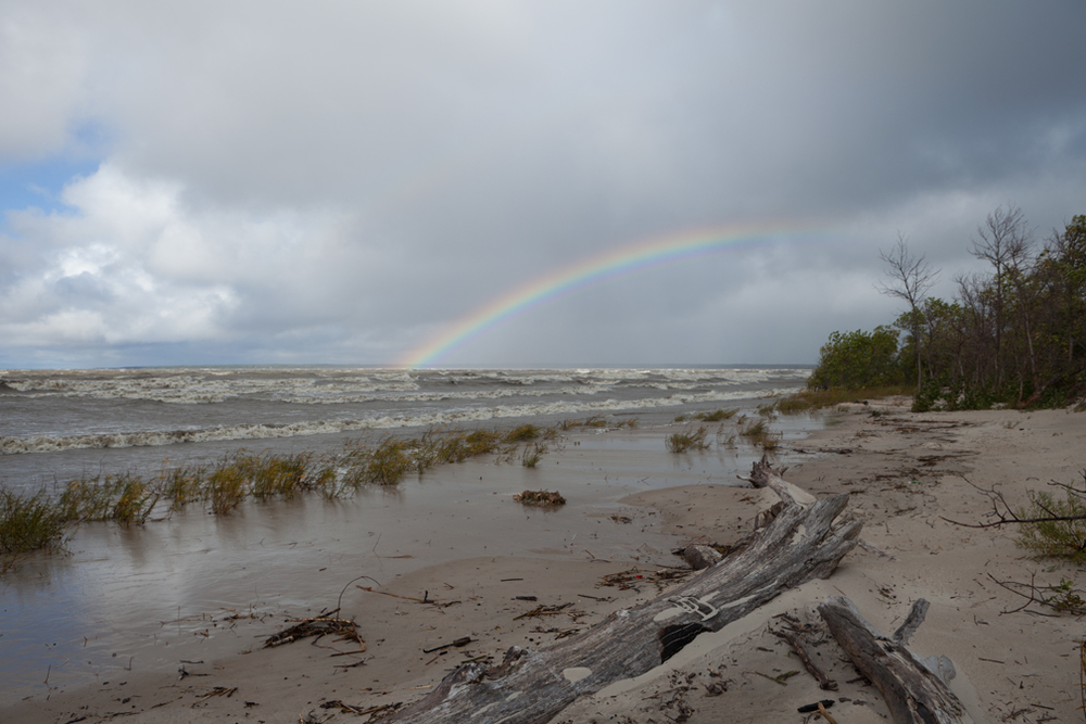 WP-032, William Pura, Lake Winnipeg Rainbow Patricia Beach Sept. 12 2011, $2,000