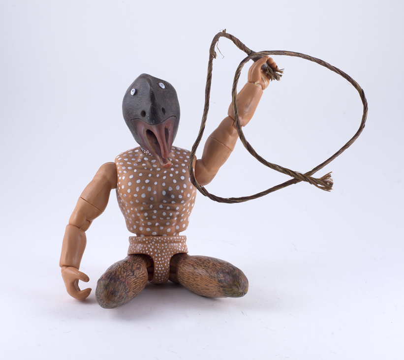 DT-074, Red-beaked Birdman with Whip, 2015, $1,800