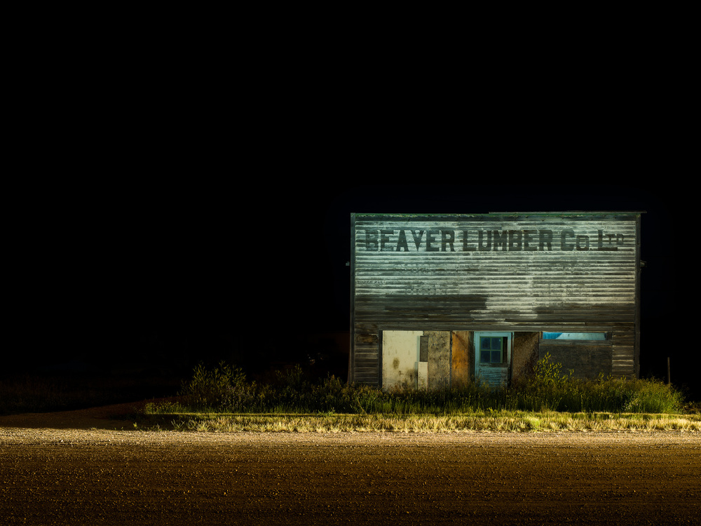KAB-012, Kevin Boyle, Robsart Beaver Lumber, Inkjet Photograph on Panel, 24x32, 2014, $2100