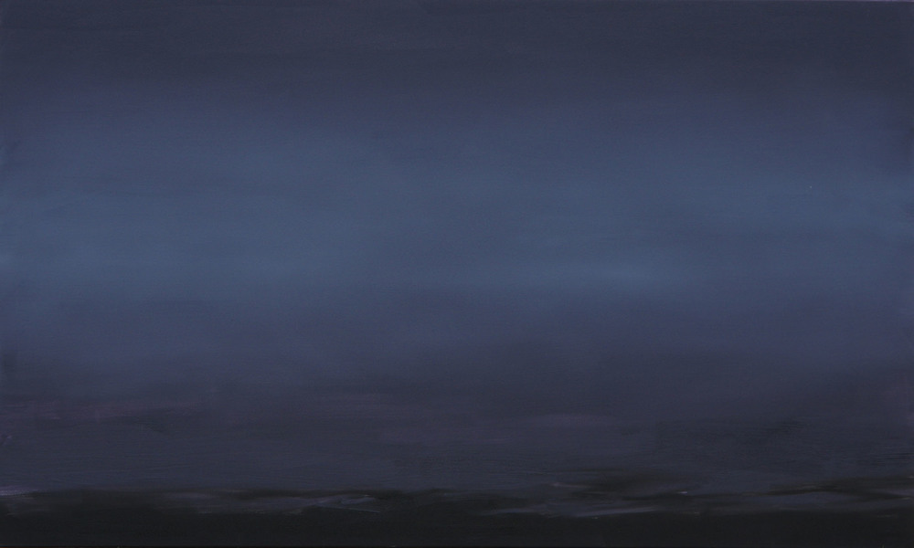 RS-181, Night Lake, oil on canvas, 2015, 60x36, $3,250