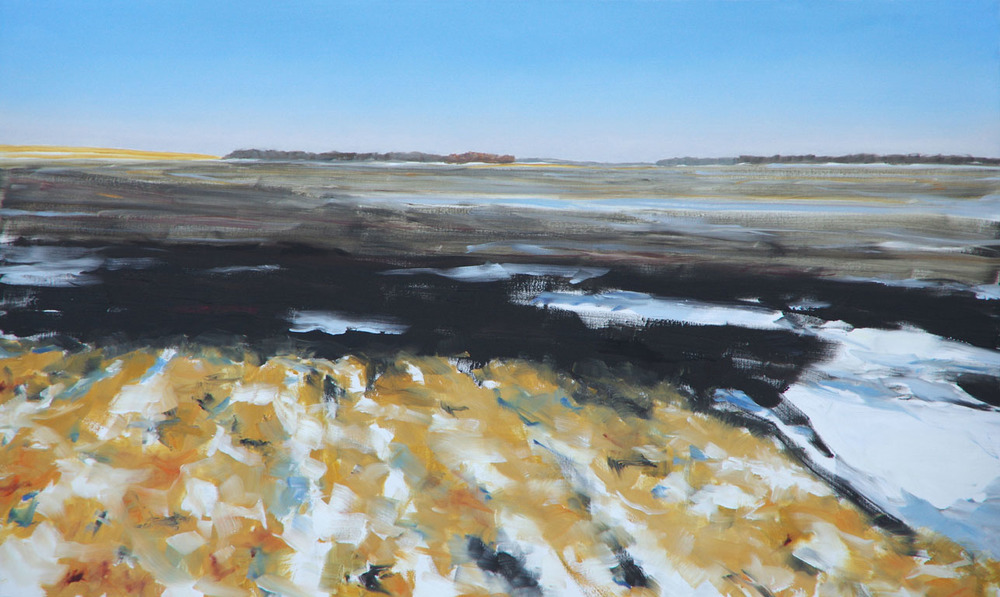 RS-179, November Field, 2014, Oil on Canvas, 60x36, $3,000