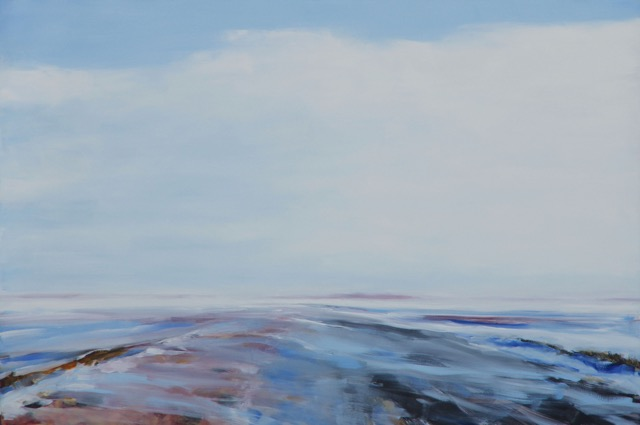 RS-186, Drifting Snow, oil on canvas, 2015, 72x48, $4,500