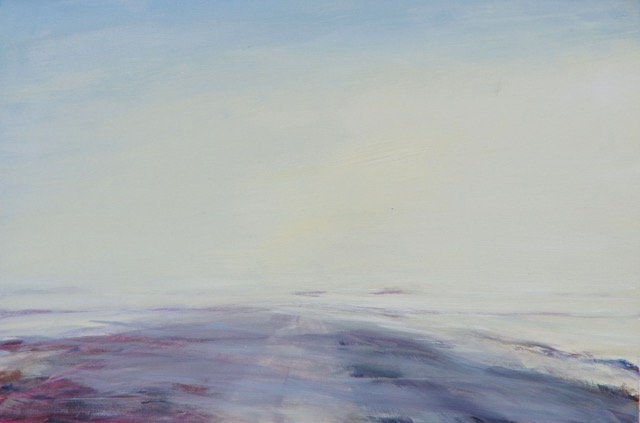 RS-198, Drifting Snow Study 4, oil on paper, 2015, 16.75x10.75, $850