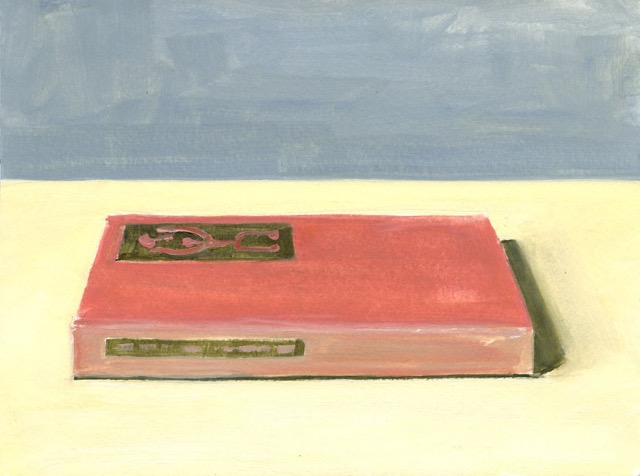 RS-200, Red Book, oil on paper, 2015, 12x9, $1,000
