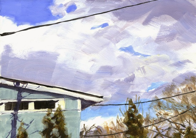 RS-196, Power Lines, oil on paper, 2015, 14x10, $900