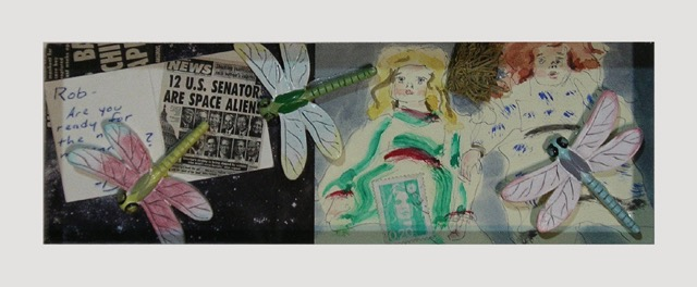RS-202, Twelve US Senators are Space Aliens, mixed media, 2012, 10.25x4.25, $400