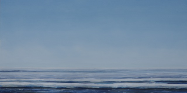 RS188, Lake, oil on canvas, 2015, 72x36, $3,250