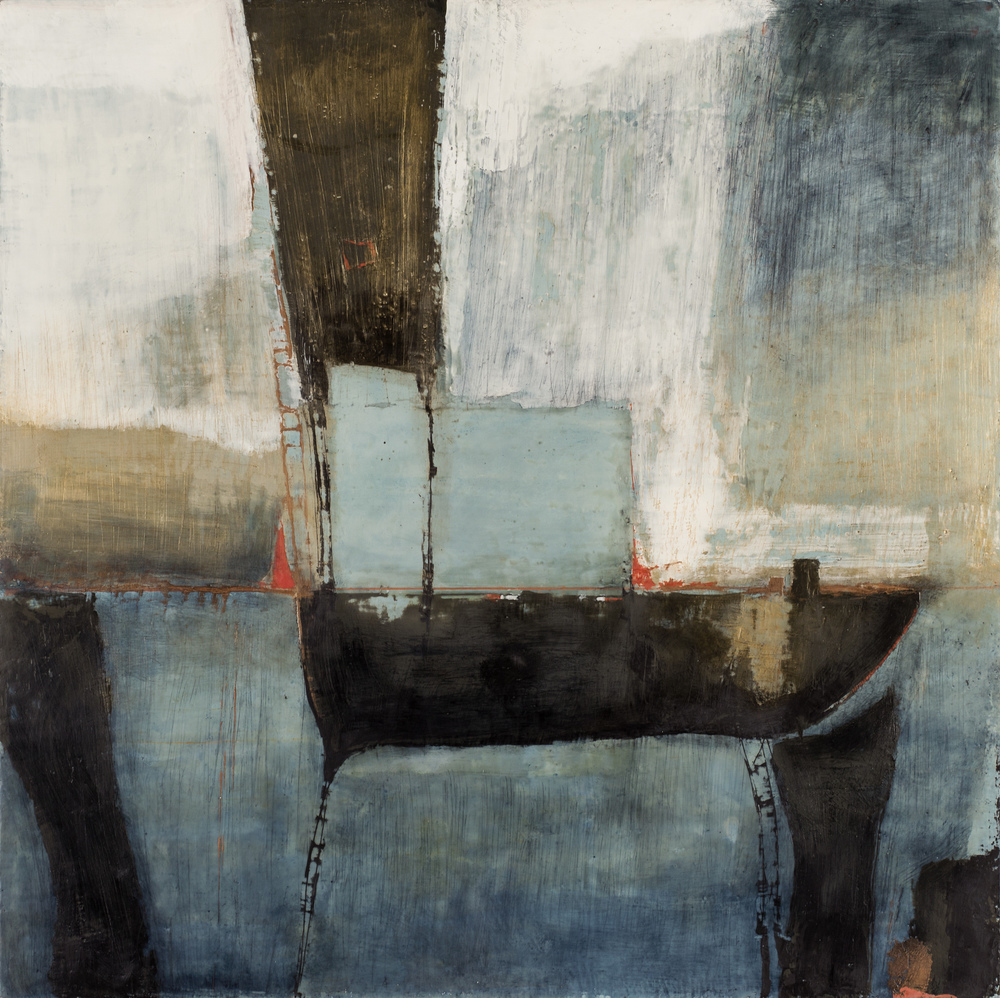 SG-076, Shelter (Find Home), 2015, encaustic on birch panel, 36x36, $3900