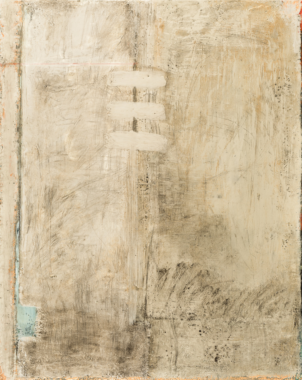 SG-086, Sue Gordon, To All Appearances 2, Encaustic on Birch Panel, 24x30, 2016