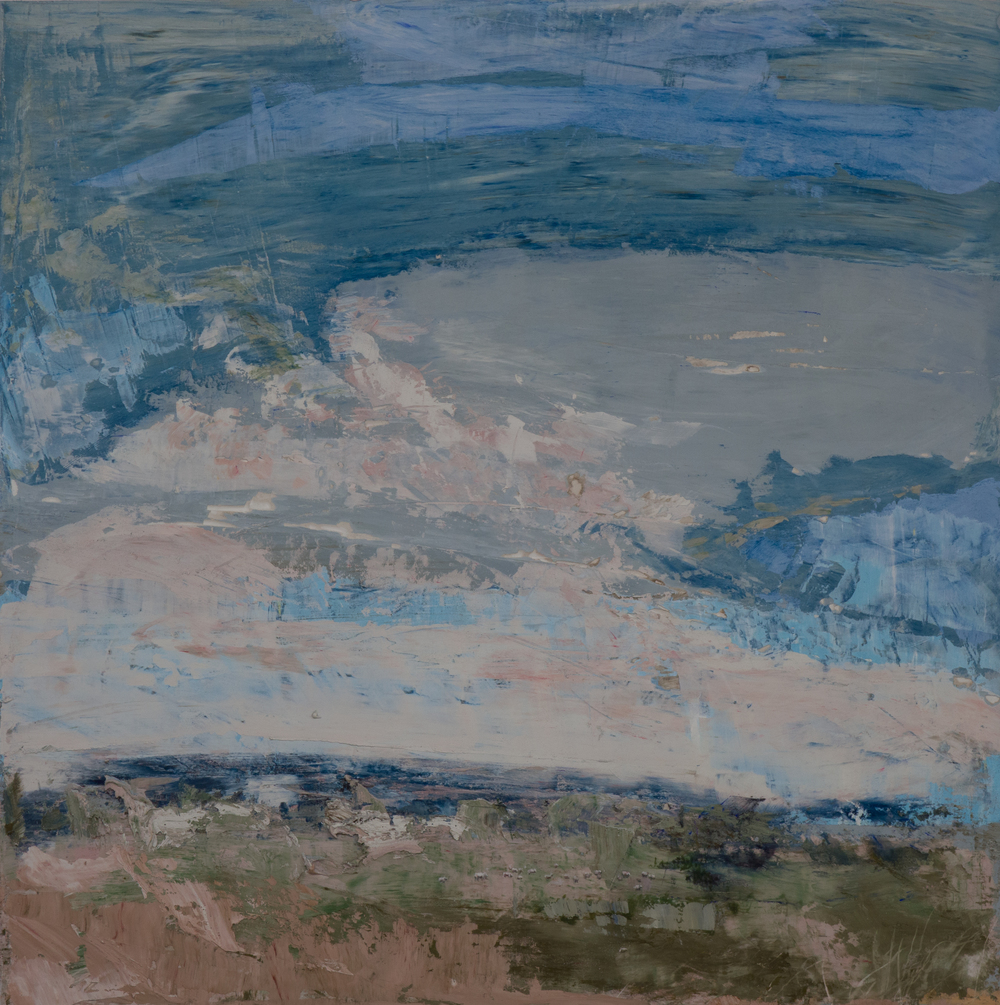 SV-046, Shelley Vanderbyl, A View From Slightly Higher, 2016, Fresco on Panel, 36x36