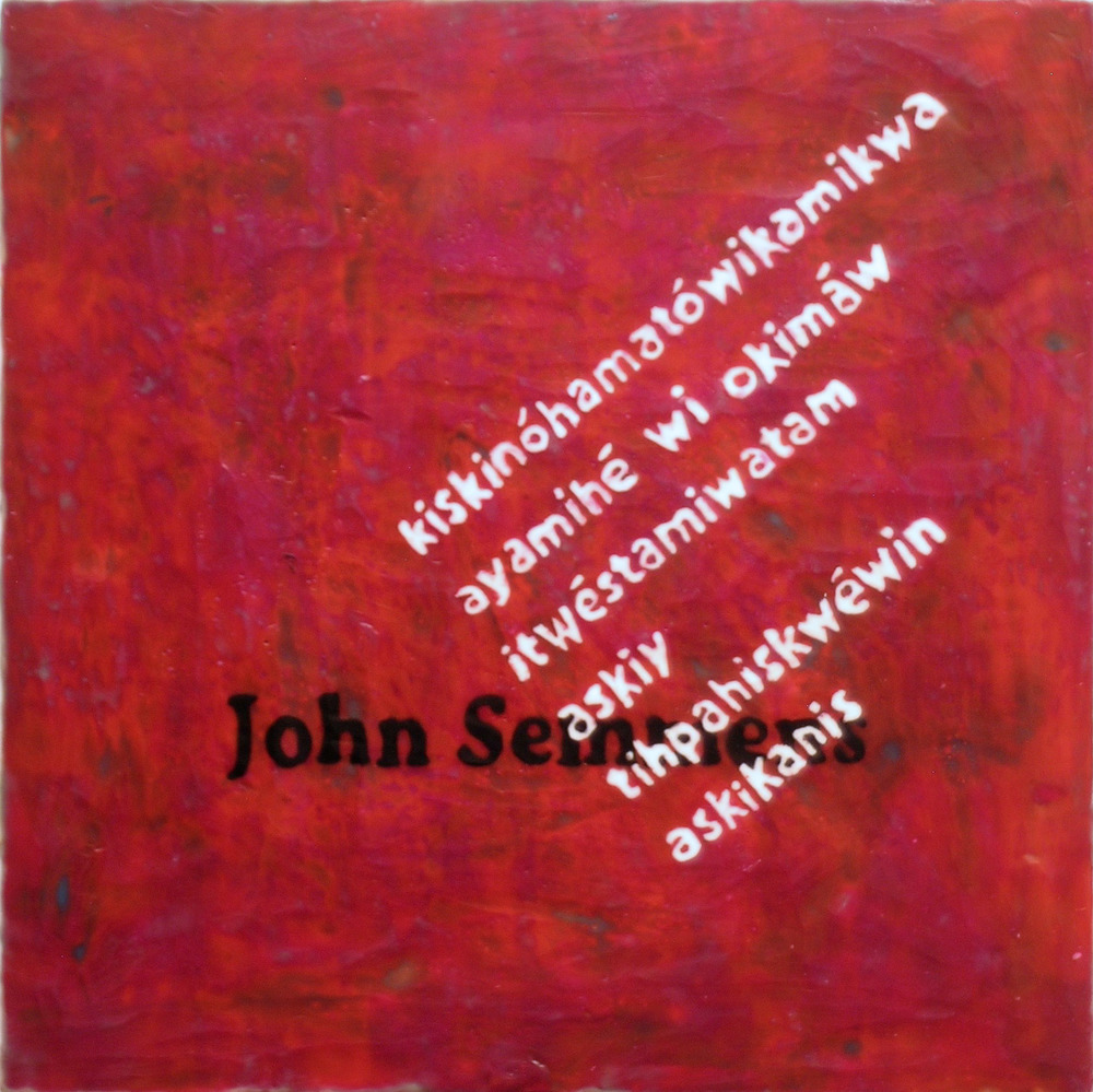 TS-083, the same having been first explained to the Indians by JOHN SEMMENS, Commissioner,  2016, mixed media, encaustic, 20x20.jpg