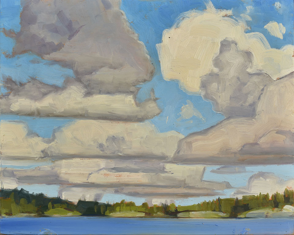 Florence Lake Manitoba, 2016, oil on panel, 8 x 10