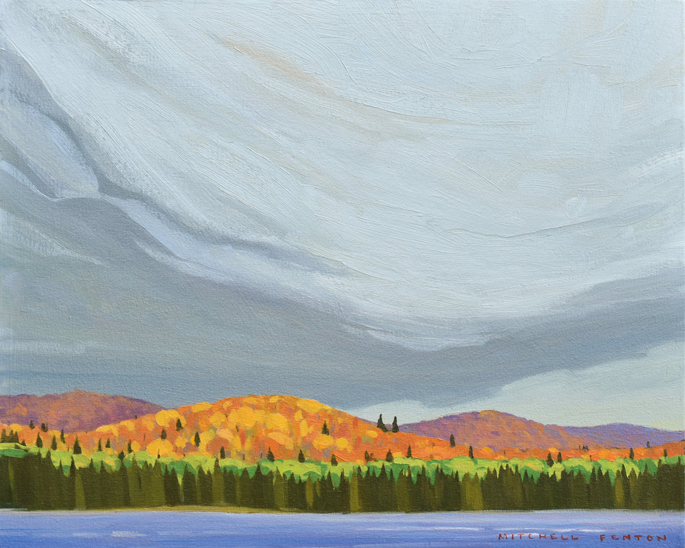 Opeongo Lake Algonquin Park, oil on panel, 16x20