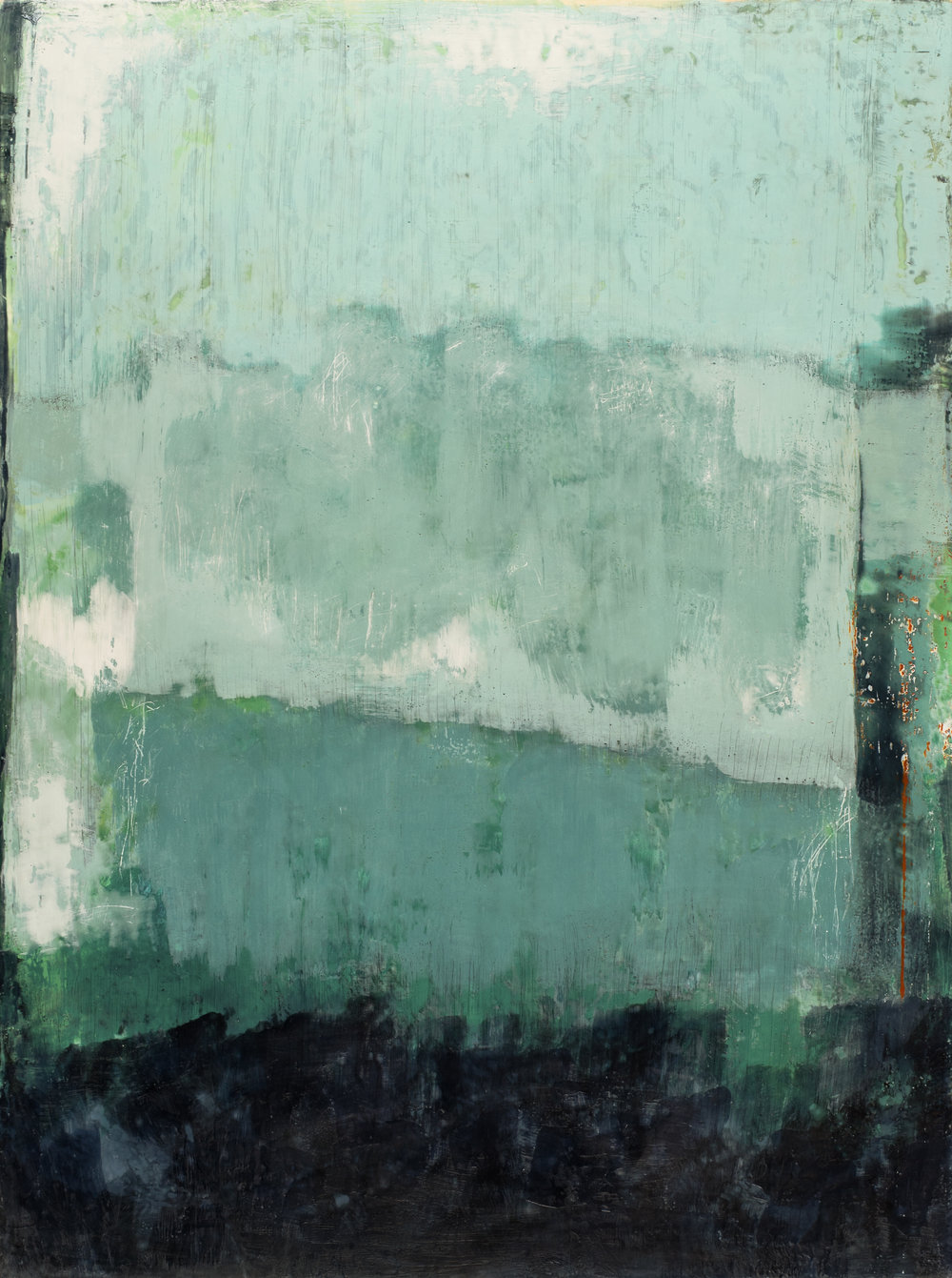 It Shall Come to Pass, Encaustic on Birch Panel, 2016