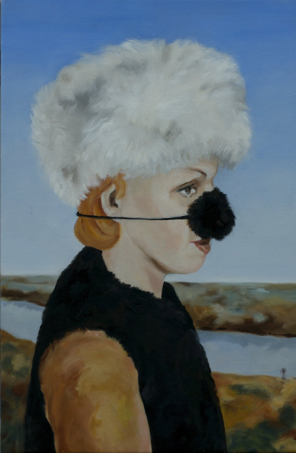 "Duchess Winterpeg, Oil on Linen, 2016, 12"" x	18""."