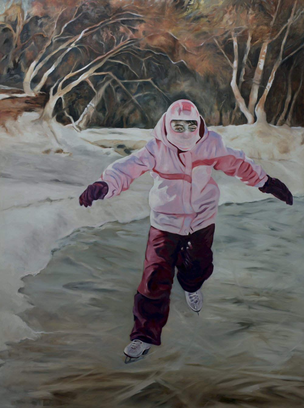 "40 Below, Oil on Linen, 2016, 72"" x 54""."