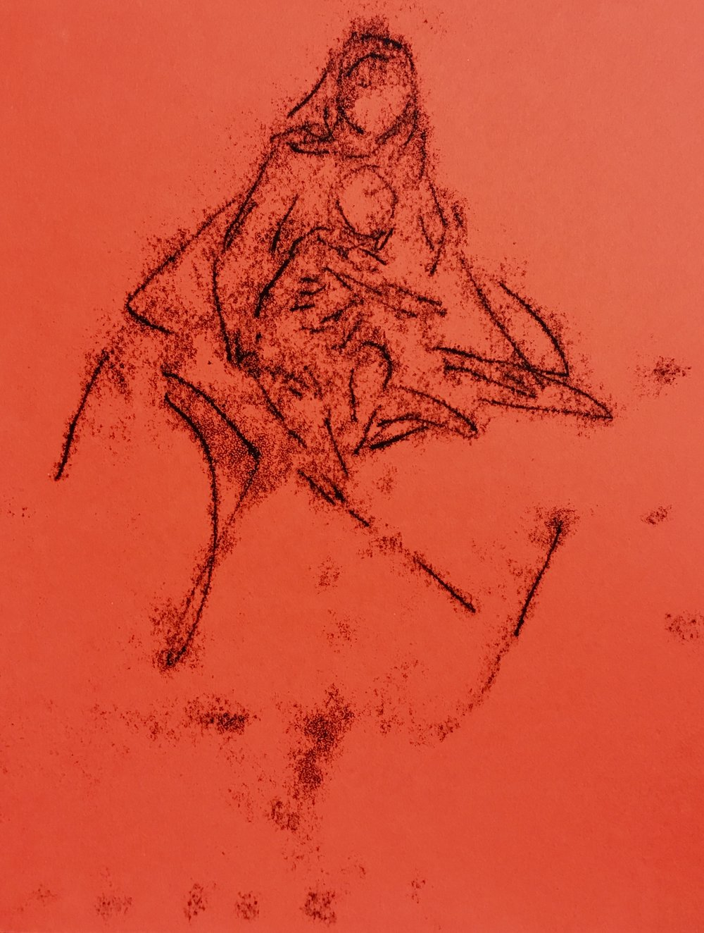Mother and Child, Monotype, 8x10.jpg