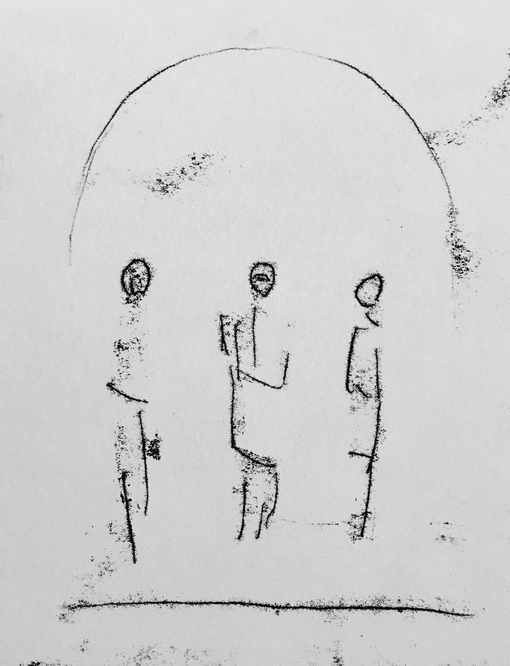 Pontius Pilate present Jesus and Barabbas of the People, 	Monotype		, 8	x10.jpg