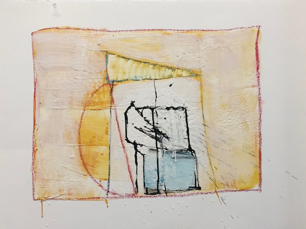 KW-090_Nonfiction 14_Encaustic on paper_2016_30x22.jpg