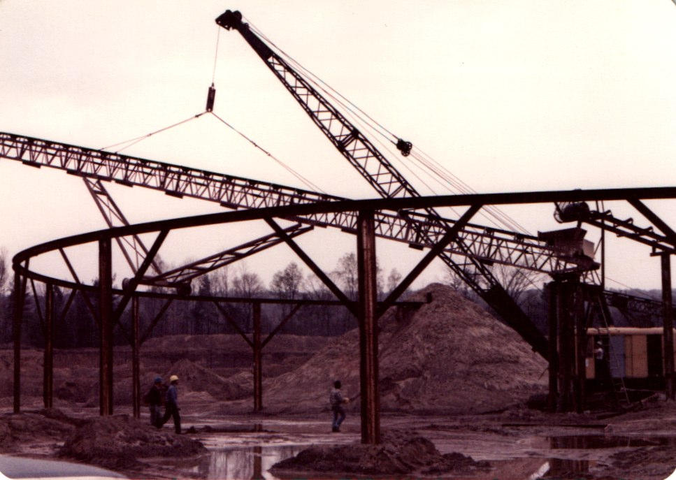 Building the sand plant in the early 80's