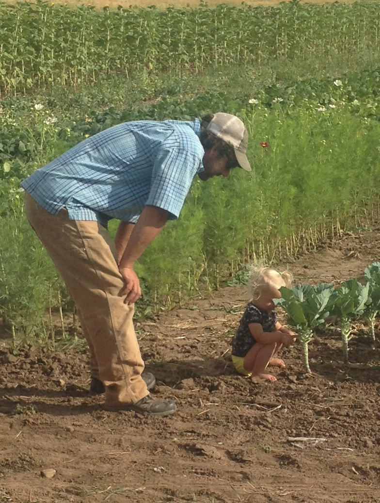 Farmer Jed and daughter showing how it's done