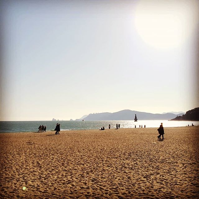 The #beach at Busan. Usually crowded with people in the summer. #Korea #sea