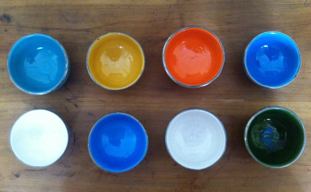 Beautiful bowls from Morocco - the perfect way to present your mousse...