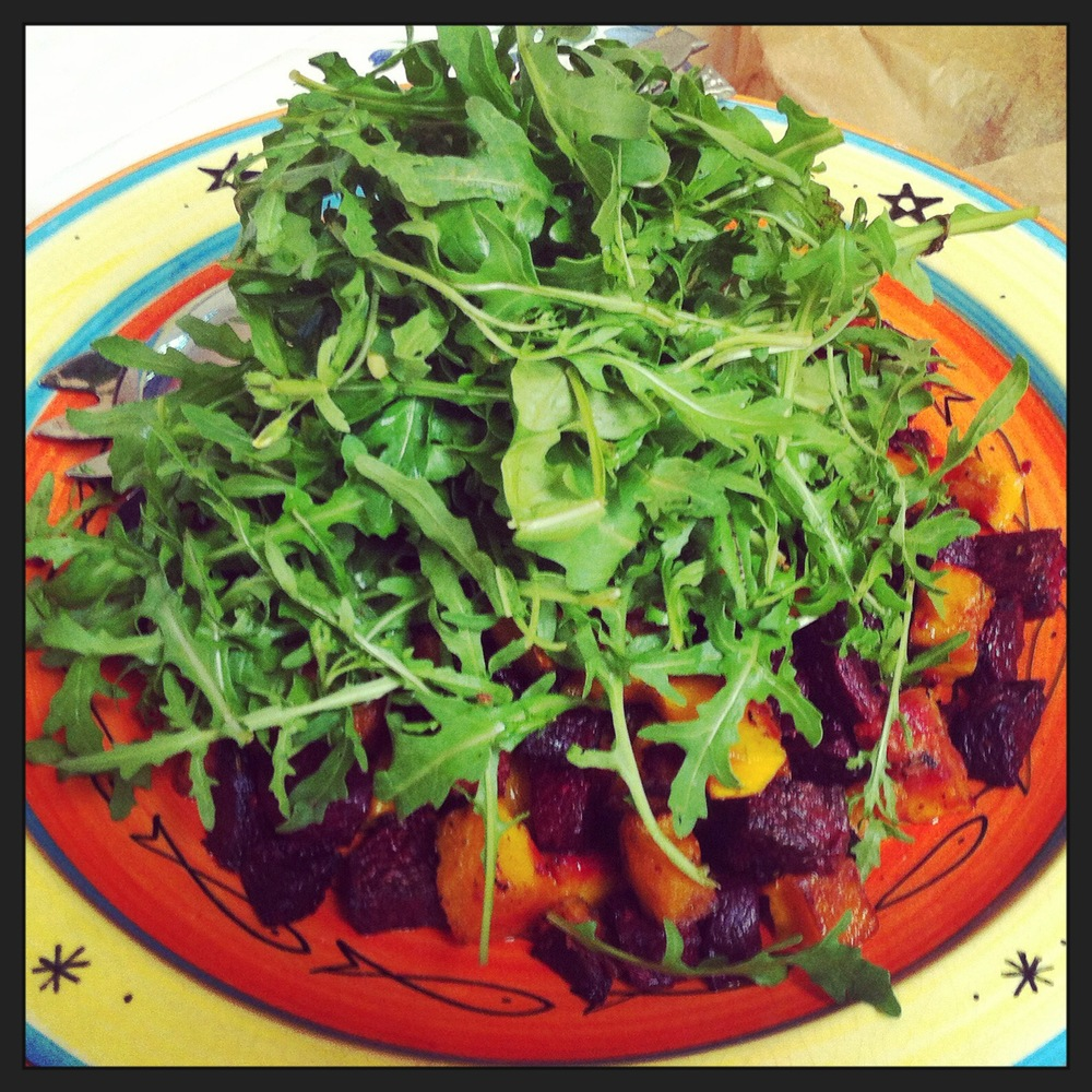 Beetroot & Butternut Salad, LunchWithJuju
