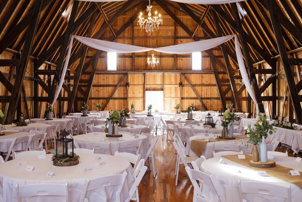 Reception venue at Barns of Old Glory outside Rochester, MN by Pamela Sutton