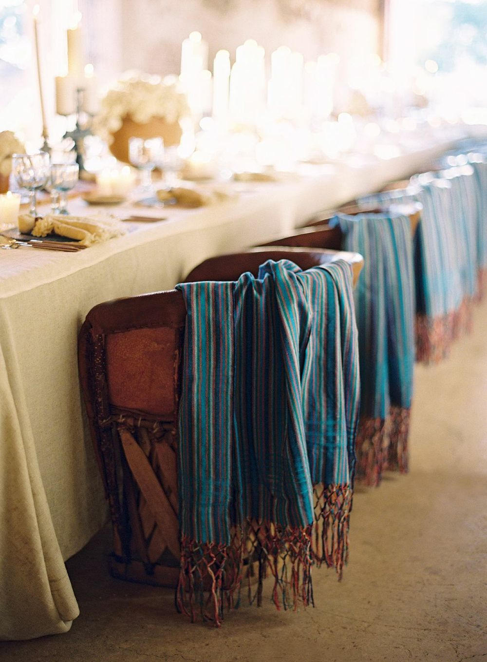 Beautiful hand loomed shawls .... one for each guest!