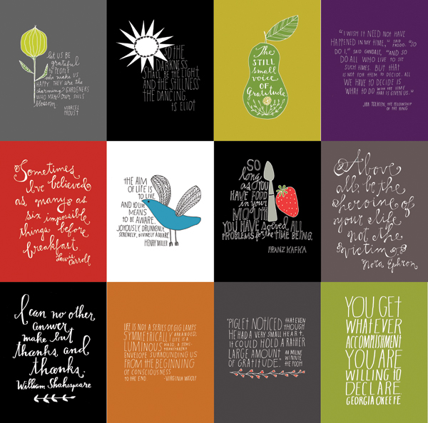 Lisa Congdon, Hand Lettered Quotes, 2012