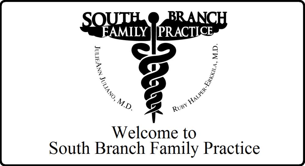 South Branch Family Practice Logo Practice of Dr. Juliano and Dr. Halper-Erkkila