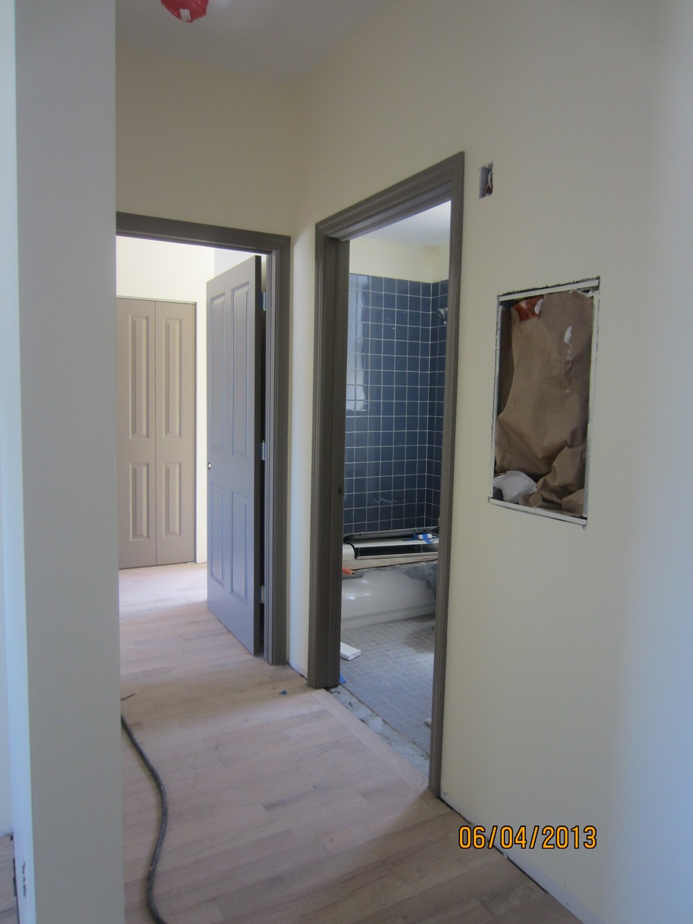 Hallway and Bathroom