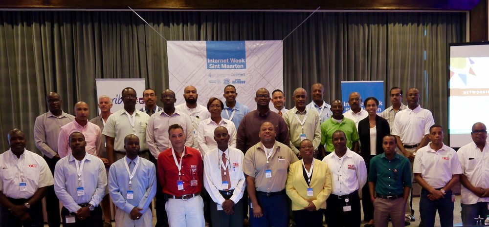 Participants at CaribNOG's 12th Regional Gathering and the LAC-i-Roadshow in Philipsburg, St Maarten from 24 to 26 October 2016 at the Sonesta Great Bay Beach Resort & Casino.