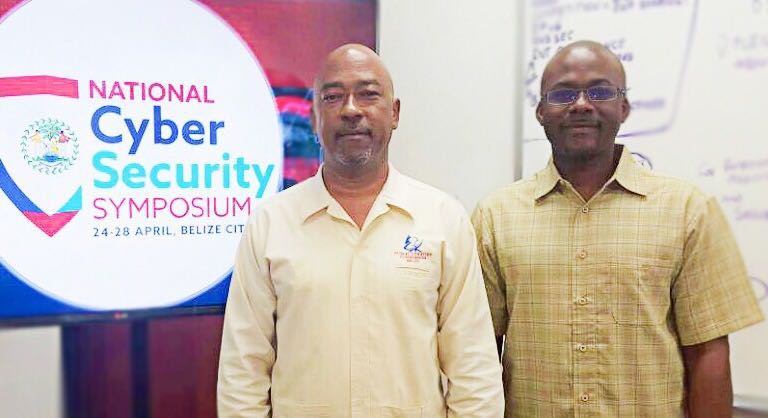 CAPTION: John Avery (left), Chairman of the Belize Public Utilities Commission with Bevil Wooding, Executive Director, Caribbean Network Operators Group and Outreach Manager for Packet Clearing House.
