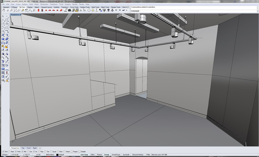 //// Exhibition space being built as 3d render ready for visualisation