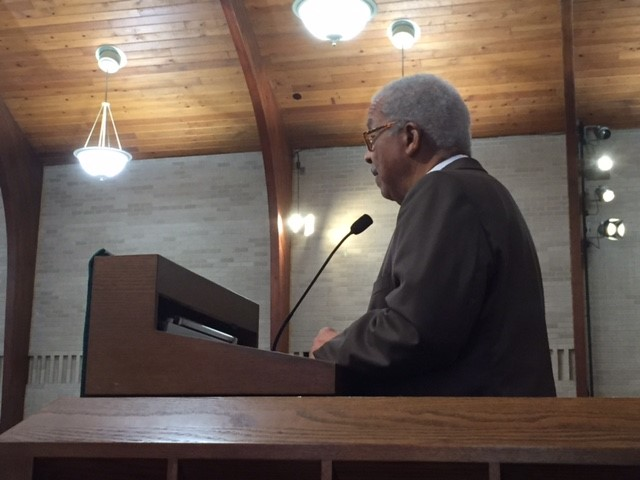 REv. Green delivering his message