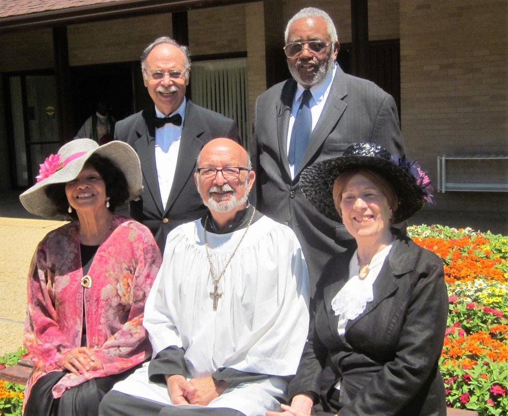 Left to Right: Elizabeth Brooks-Evans, Jack Colvis, Roman Czujko, Bill Pailen and Maggi Lindley