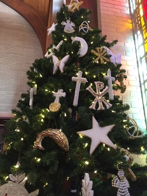Chrismon tree in the sanctuary