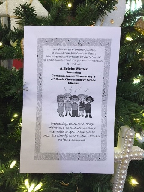 children's concert on December 6