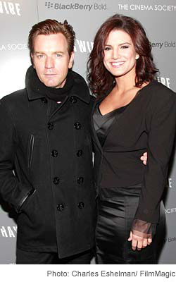 Photo: Ewan McGregor and Gina Carano at the Cinema Society screening