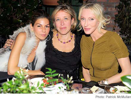 Photo: Eva Lorenzotti, Veronica Bulgari, and Jackie Astier at the Bulgari dinner