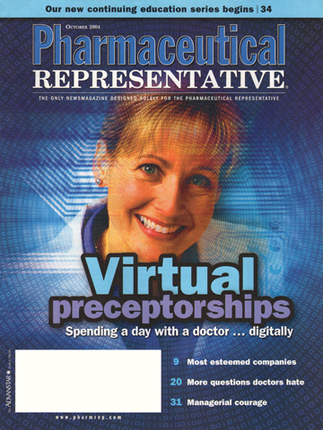 Pharmaceutical Representative - October 2004