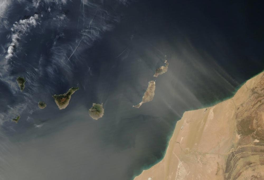 Calima palydovinėje nuotraukoje (NASA)