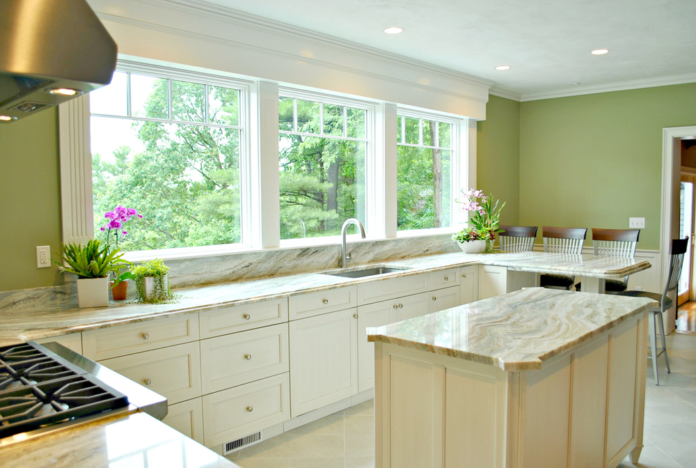 Less cabinets for a better view kitchen associates for Kitchen cabinets 4 less
