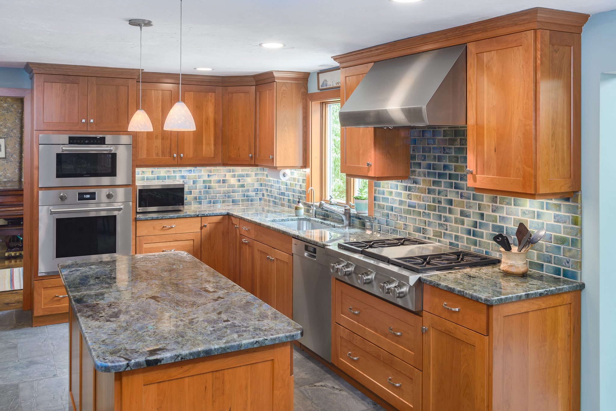 Ocean Inspired Kitchen Remodel In Bolton, MA