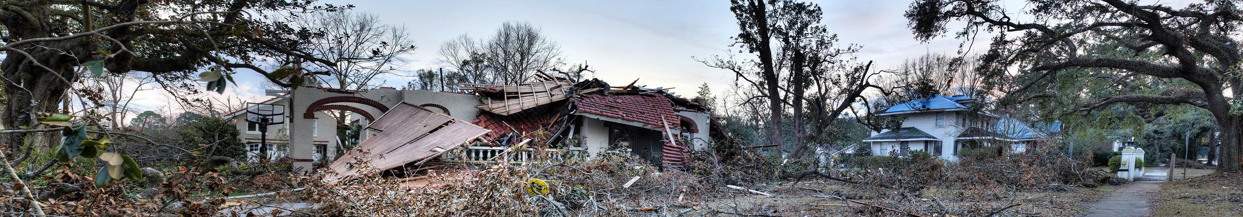 Mobile Alabama Christmas Twister Damaged Houses
