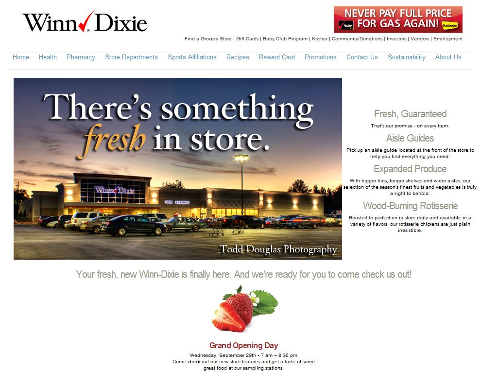 Winn Dixie Webpage