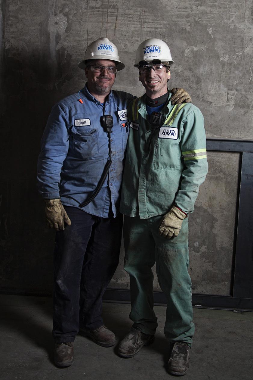 Industrial Plant Workers Portrait